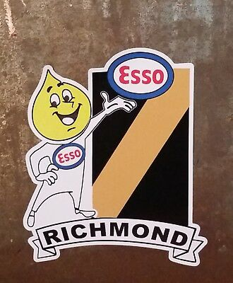ESSO & RICHMOND Vinyl DECAL STICKER Petrol afl vfl sanfl THE TIGERS