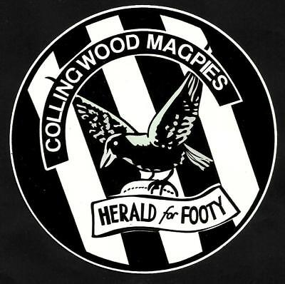 ''COLLINGWOOD MAGPIES & THE HERALD'' VINYL DECAL STICKER PROMO football AFL VFL