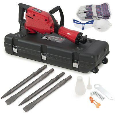 2200W Demolition Jack Hammer Electric Concrete Breaker 2 Chisel 2 Punch Bit Set