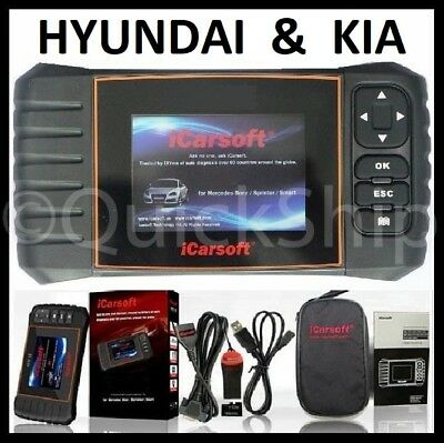 For HYUNDAI KIA DIAGNOSTIC SCANNER TOOL ENGINE AIRBAG CODE READER iCarsoft KHDII