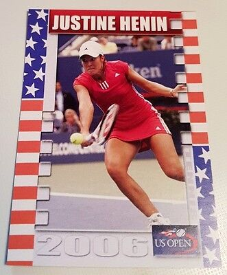 Justine HENIN 2006 US Open Collector Edition card #16/25 Tennis FA Productions