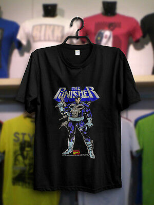 VINTAGE 90s 1992 THE PUNISHER marvel comic t shirt Gildan REPRINT