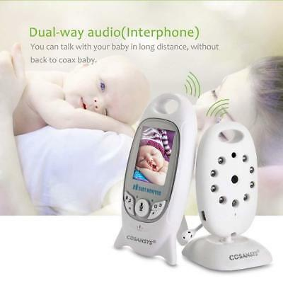 "2.4GHz 2.0"" LCD Digital Wireless Baby Monitor Audio Video Night Vision Camera JS"