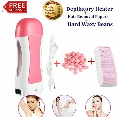 Automatic Depilatory Heater Roller Warmer Cartridge Strips Hair Removal Kit gg
