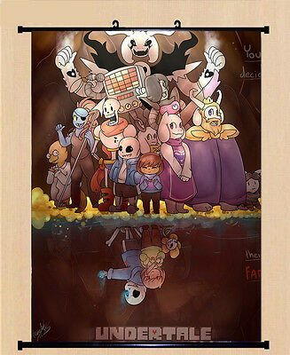 JAPAN GAME UNDERTALE Sans Papyrus Cosplay Poster Wall Home Decor Scroll  Gift #G8