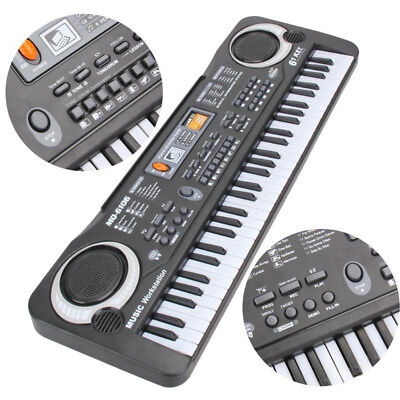 61 Key Digital Music Electronic Keyboard Kid Electric Piano Organ Gift Popular