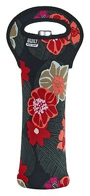 BUILT NY Neoprene Wine/Water Bottle Tote, , Poppy Floral. Delivery is Free