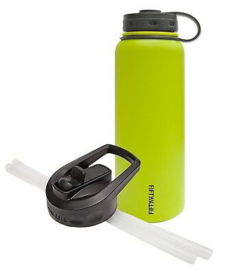 (1180ml and Straw Cap, Lime) - Fifty/Fifty Lime Vacuum-Insulated Stainless