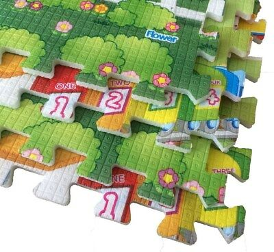 Puzzle Baby Play Mat Foam Picnic Education Mat Game Toy Carpet Double Sided