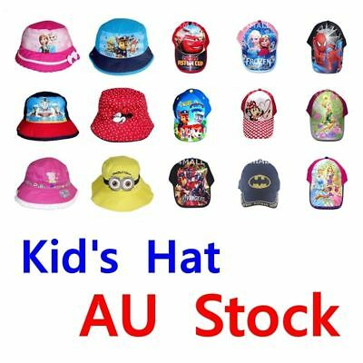 Boys Girls Kids Peaked Cricket Trucker Baseball Summer Sun Cap Bucket Hat