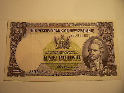 Banknote New Zealand 1 Pound