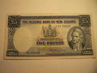 Banknote New Zealand  5 Pounds