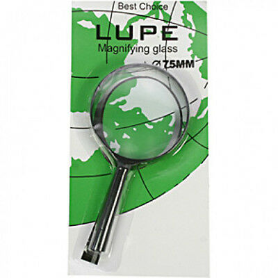 Leselupe Hand Magnifier Reading Aid Magnifying Glass 75mm 3x Magnification