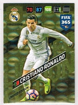 Panini FIFA 365 2018 ☆☆☆☆☆ CRISTIANO RONALDO ☆☆☆☆☆ Limited Edition Football Card