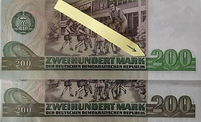 Banknote - 200 Mark der DDR, Ro. 364 a, Fehldruck, wrong printing, UNC, 1985