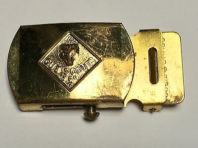 Vintage 1960s Cub Scout Belt Buckle-Solid Brass-Boy Scouts of America