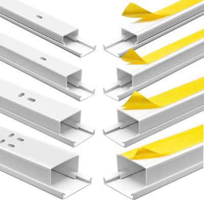 Cable Channel Screwed or Self Adhesive PVC Installationskanal Electric Channel