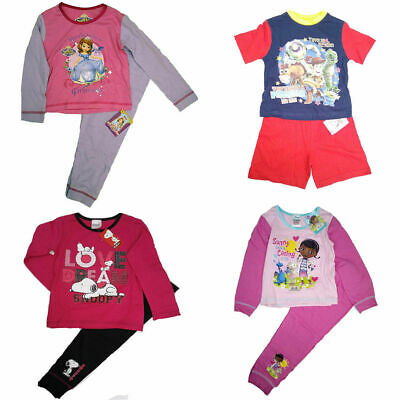 Boys Girls Character Pyjamas Sofia Toy Story Doc McStuffin Peppa Pig Paw Patrol
