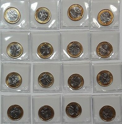 Brazil 2014-2016 Rio Olympic Games Real Bi-metallic 16 Coins Bi-Metallic  UNC