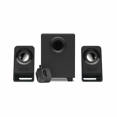 Logitech Computer Speakers With Subwoofer Bass 2.1 Stereo Sound System Black New