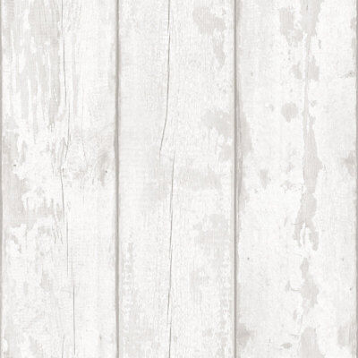 Distressed Look Wood Style Wallpaper Grains Faux Grey Washed Planks Arthouse