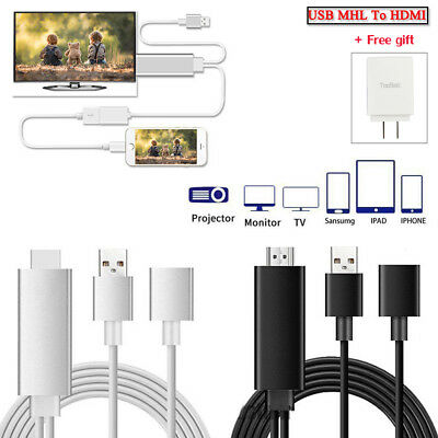 Mini USB MHL To HDMI 1080P TV Adapter Cable For iPhone 8 7 Samsung Galaxy S8 S7