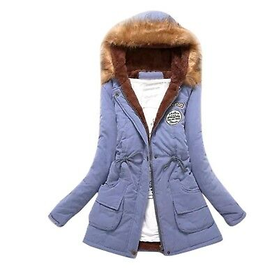 (3X-Large, Sky Blue) - Clode® Women Coat, Womens Winter Keep Warm Long Coat