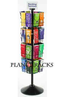 Planet Racks 32 Pocket 4 x 9 Map, Pamphlet, Brochure Rotating Floor Display