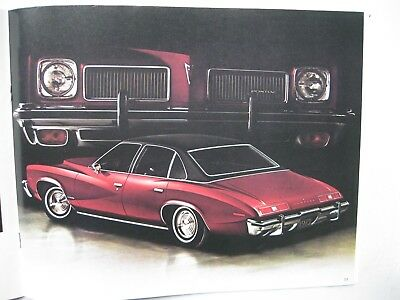 Pontiac Le Mans Grand Am brochure Prospekt English text 1973 Canada 20 pages