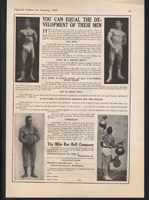 1920 Milo Bar Bell Bodybuild Strength Gym Exercise Muscle Fitness Health 21161