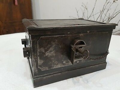 Cassaforte, forziere, eisentruhe, strong box, coffre, epoca 1800 ORIGINALE IMPER