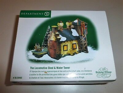 Dept. 56 Locomotive Shed & Water Tower Dickens Village Series 56.58465 in Box