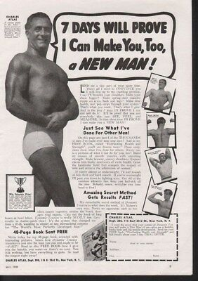 1939 Charles Atlas Muscle Weight Body Building Men Ad 13977