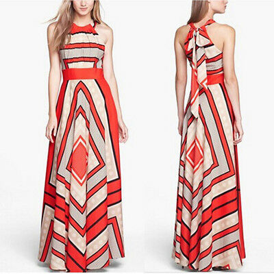 Women Summer Boho Long Maxi Evening Party Long Dress Beach Dresses Sundress BH
