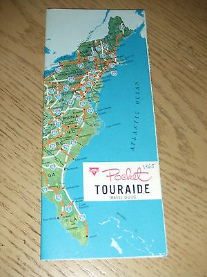 VINTAGE 1965 Conoco Oil Gas United States Road Map Pocket Touraide Travel Guide