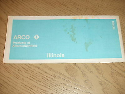 VINTAGE 1971 Atlantic Richfield Illinois State Highway Road Map ARCO Rock Moline