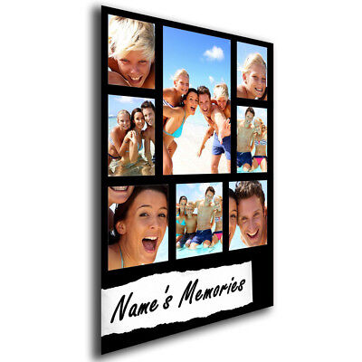 Personalised Any Photos & Any Name Memories A4 or A3 Photo Collage Print