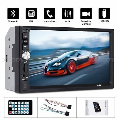 "2DIN Car Stereo Radio 7"" Inch Touch Screen MP5 MP3 Player Bluetooth USB Double"
