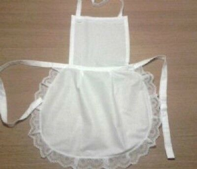Ladies full white 50.s style apron waitress Victorian Edwardian vintage Maid