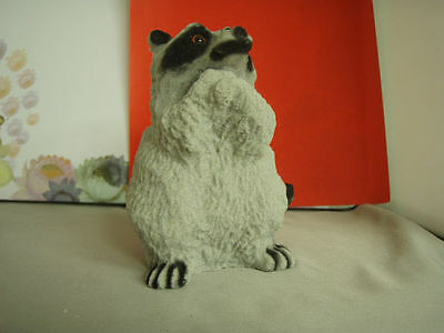Vintage Raccoon, Grey stone-styled, mint condition.