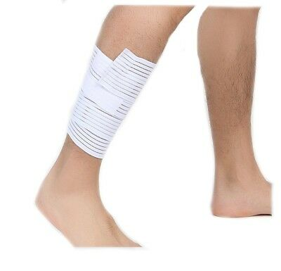 (White - white) - Fletion Highly Elastic Calf Wrap Brace Compression Support