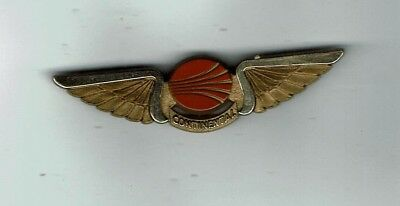 Vintage Continental  Airlines  Wings Pin Back Pin