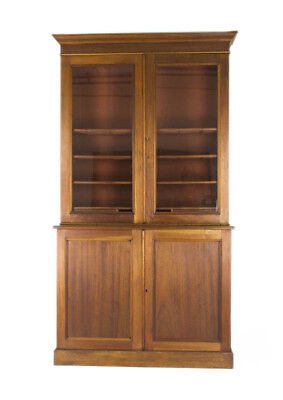 Antique Bookcase, Walnut Bookcase, Display  Case, Scotland 1870, B775