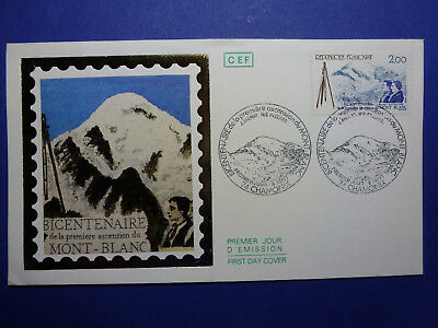 Lot 12854 Timbres Stamp Enveloppe Mont Blanc France Annee 1986