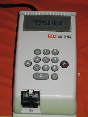 MAX EC-30A Electronic Check Writer 10-digit