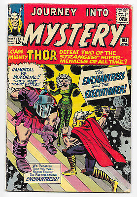 Journey Into Mystery #103 Marvel 1964 intro. Executioner & Enchantress Kirby VG-