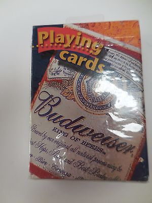 Budweiser Playing Cards Sealed Great Gift