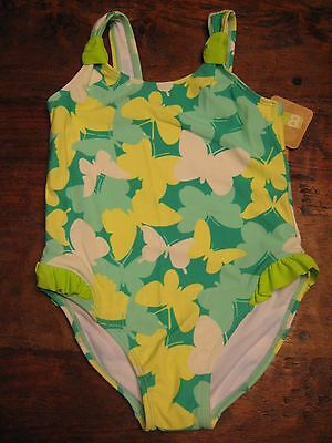 Girls Swimsuit Green Butterfly 5T UPF 50+ Toddler Crazy 8 Gymboree New NWT Free