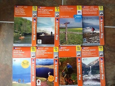 Ordnance Survey OS Explorer Maps FROM  £2.80 + P&P Each CONTACT 4 AVAILABILITY