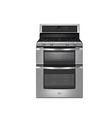 double oven gas range. Whirlpool WGG555S0BS 30\ Double Oven Gas Range